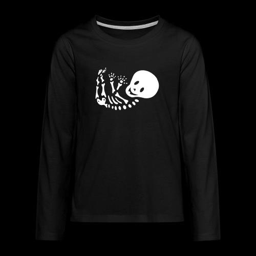 Bauchband Baby Skelett - Teenager Premium Langarmshirt