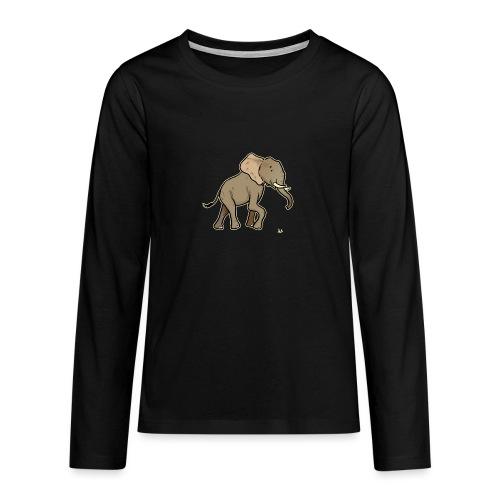 African Elephant (black edition) - Teenager Premium Langarmshirt
