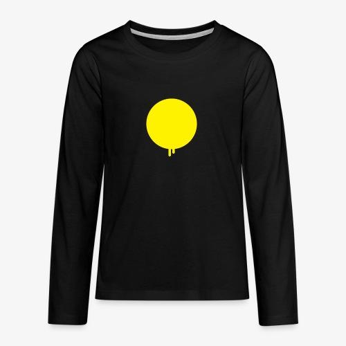 Smeltende zon met druppels - Teenager Premium shirt met lange mouwen