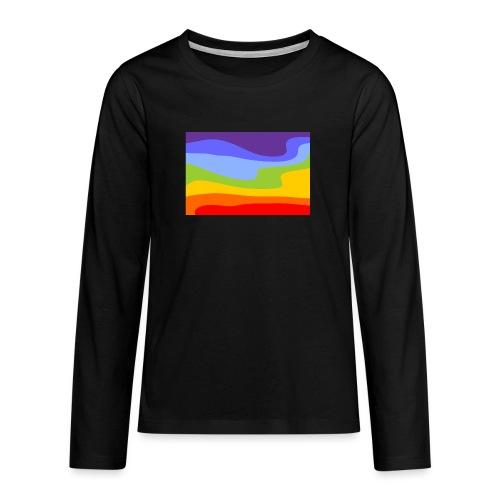 Hintergrund Regenbogen Fluss - Teenager Premium Langarmshirt