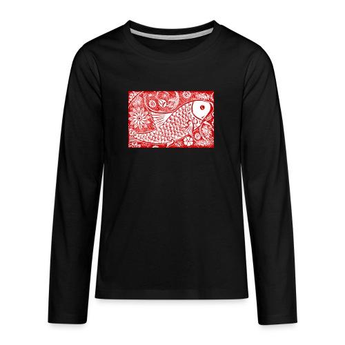 Fish in the sea - Teenager Premium shirt met lange mouwen