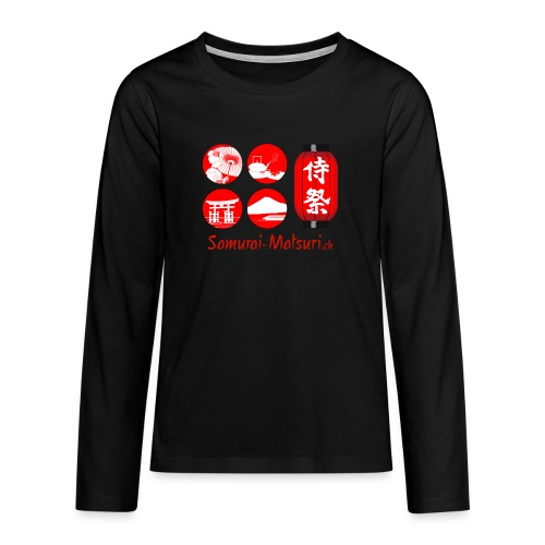 Samurai Matsuri Festival - Teenager Premium Langarmshirt