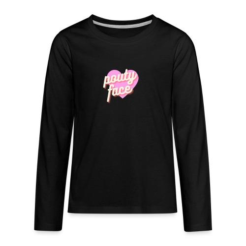 Pouty face - Koszulka Premium z długim rękawem dla nastolatków
