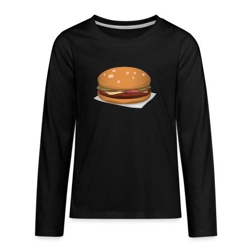 hamburger-576419 - Maglietta Premium a manica lunga per teenager