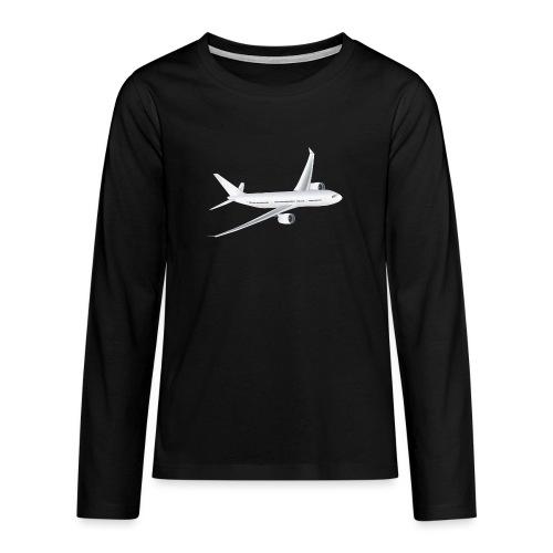 Flugzeug - Teenager Premium Langarmshirt