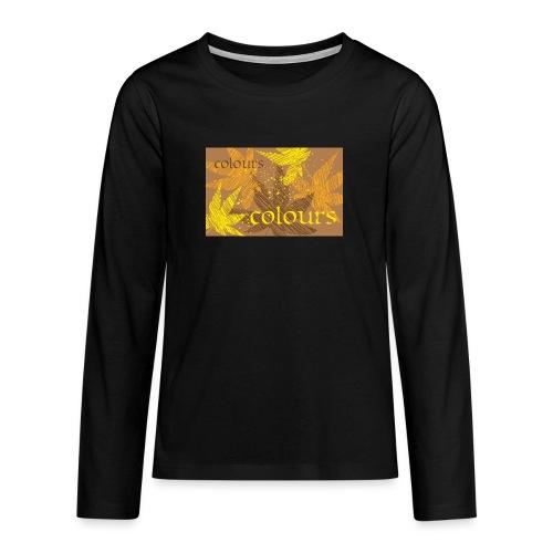 autumn theme - Koszulka Premium z długim rękawem dla nastolatków