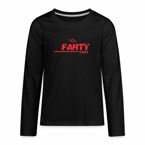 farty - Camiseta de manga larga premium adolescente
