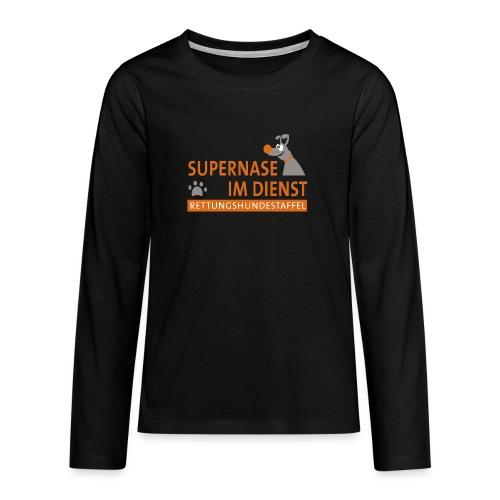 Supernase im Dienst - Teenager Premium Langarmshirt