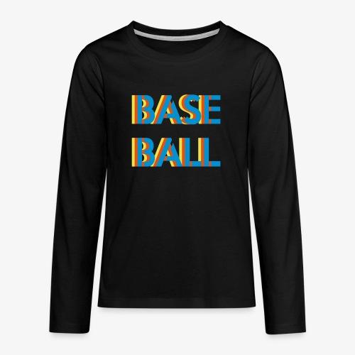 Baseball relief - T-shirt manches longues Premium Ado