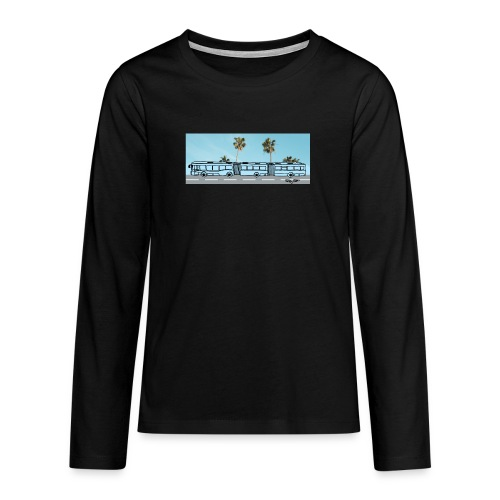 Doppelgelenkbus color palmen - Teenager Premium Langarmshirt