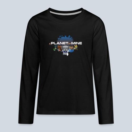 logo planetofmine dark HD - T-shirt manches longues Premium Ado