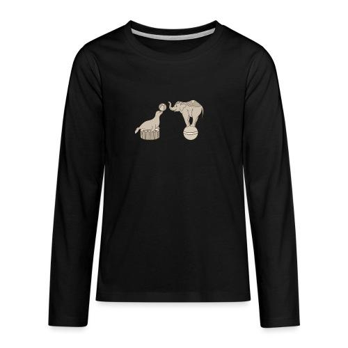 Circus elephant and seal - Teenagers' Premium Longsleeve Shirt