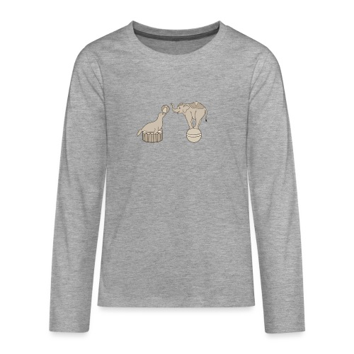 Circus elephant and seal - Teenagers' Premium Longsleeve Shirt