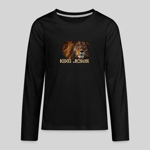 König Jesus der Löwe von Juda - Teenager Premium Langarmshirt