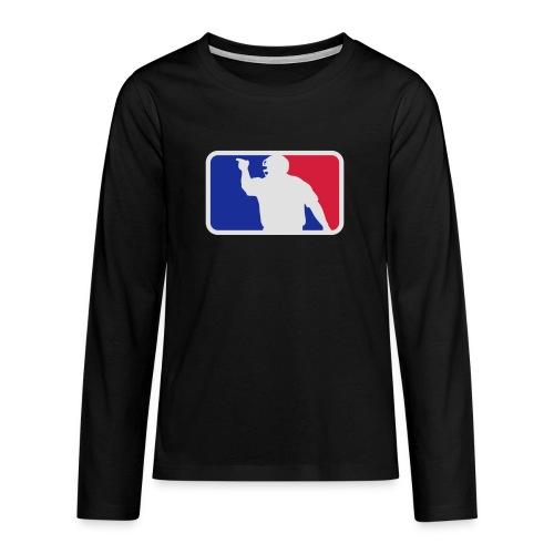 Baseball Umpire Logo - Teenagers' Premium Longsleeve Shirt