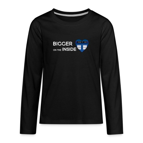 Tardis Heart - Teenagers' Premium Longsleeve Shirt
