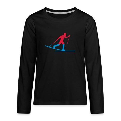 Skiløper - Premium langermet T-skjorte for tenåringer