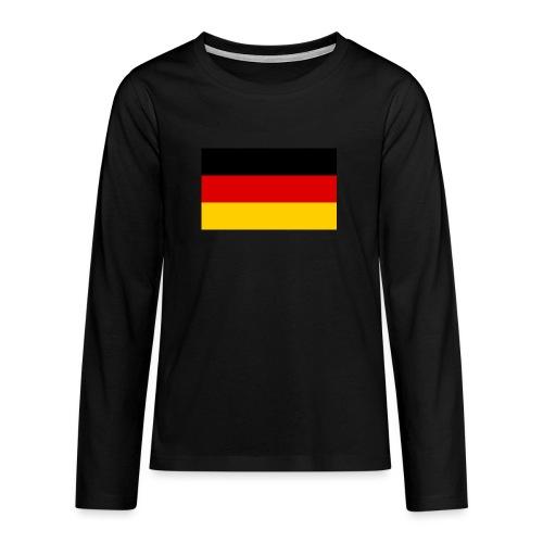 2000px Flag of Germany svg - Teenager Premium Langarmshirt