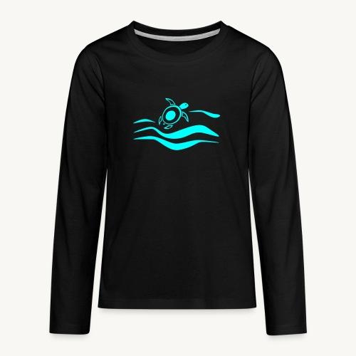 Mehr Schildis gibt es nur im Meer :) - Teenager Premium Langarmshirt