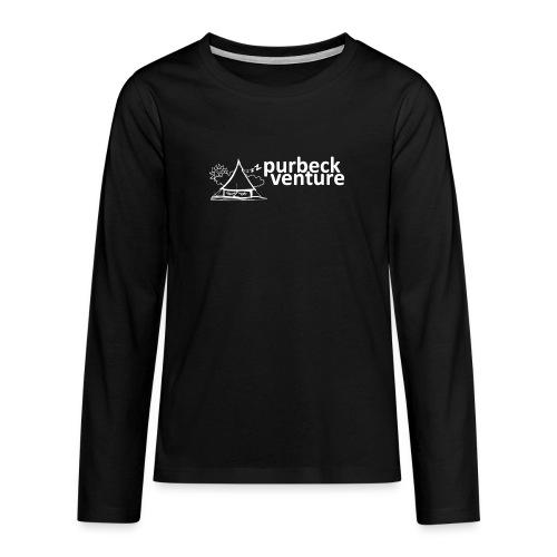 Purbeck Venture Sleepy white - Teenagers' Premium Longsleeve Shirt