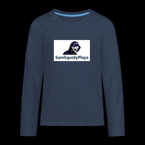 SamSquidyplayz skeleton - Teenagers' Premium Longsleeve Shirt