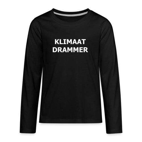 Klimaat Drammer - Teenagers' Premium Longsleeve Shirt