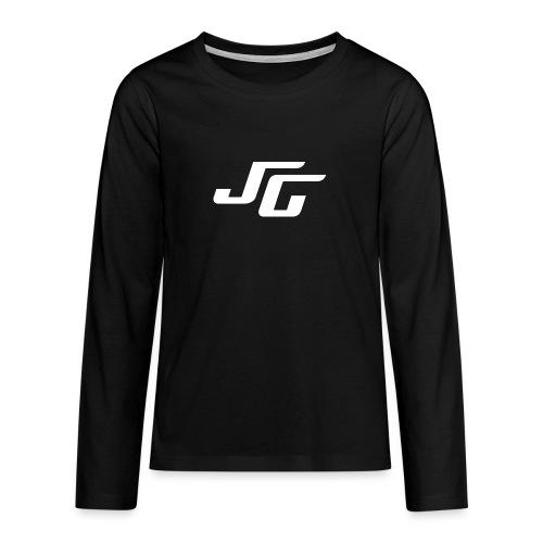 JG Logo weiss - Teenager Premium Langarmshirt