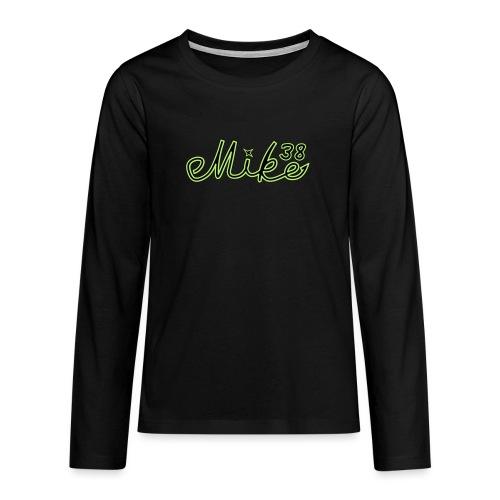 mike38teksti - Teinien premium pitkähihainen t-paita
