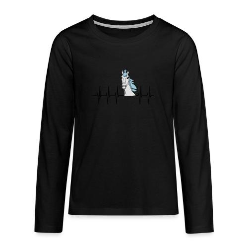 Horsebeat Pferdeliebe - Teenager Premium Langarmshirt