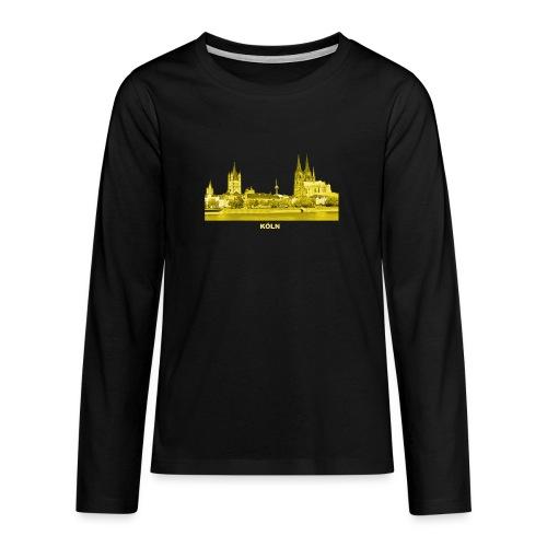 Köln Dom Rhein Nordrhein-Westfalen Deutschland - Teenager Premium Langarmshirt