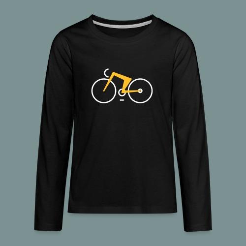 Bikes against cancer - Teenager premium T-shirt med lange ærmer