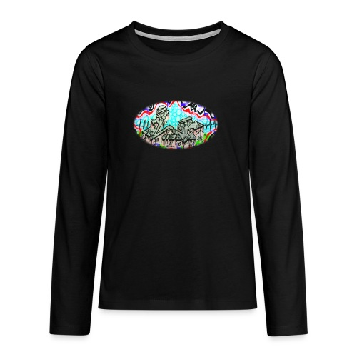 Across the Tracks Blur - Teenagers' Premium Longsleeve Shirt