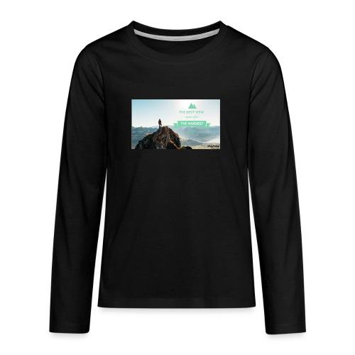fbdjfgjf - Teenagers' Premium Longsleeve Shirt