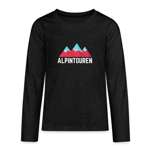 Alpintouren Logo - Teenager Premium Langarmshirt
