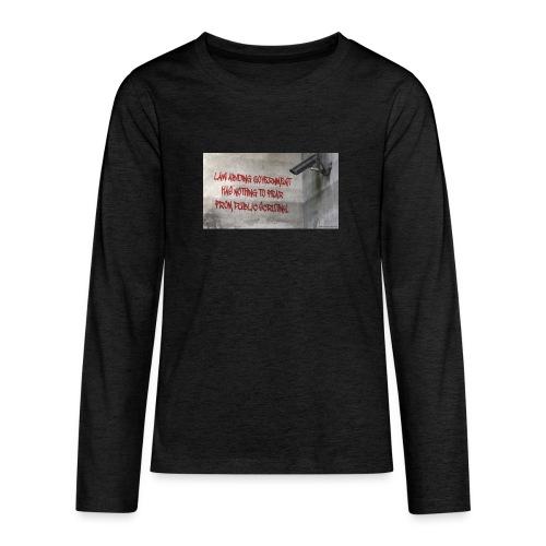 Nothing to Fear - Teenagers' Premium Longsleeve Shirt