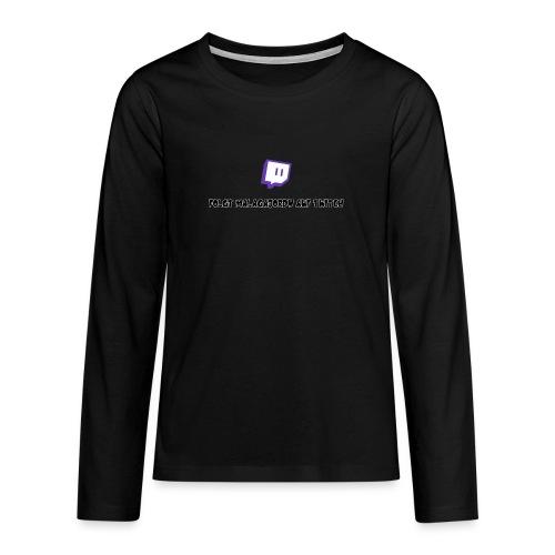 Die Werbungs Kollektion - Teenager Premium Langarmshirt
