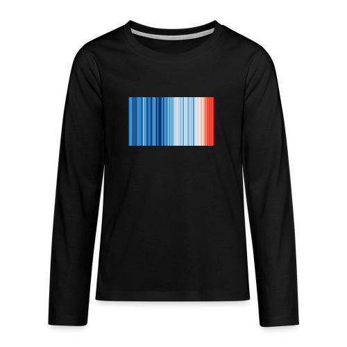 Klimawandel - Warming Stripes - Wärmestreifen - Teenager Premium Langarmshirt