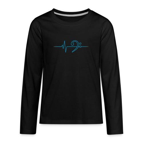 LowHeartBeat cyan - Teenager Premium Langarmshirt