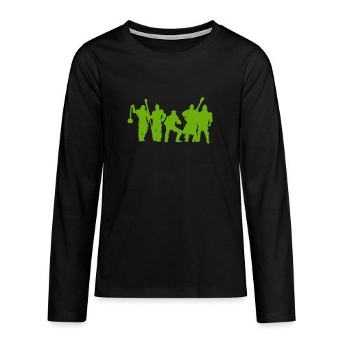 Jugger Schattenspieler gruen - Teenager Premium Langarmshirt