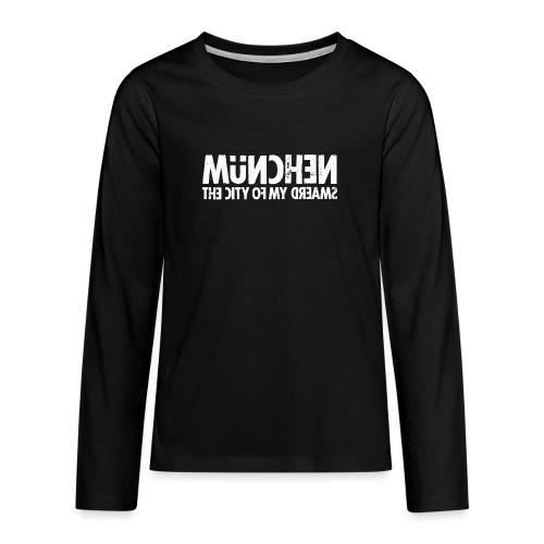 München (white oldstyle) - Teenager Premium Langarmshirt