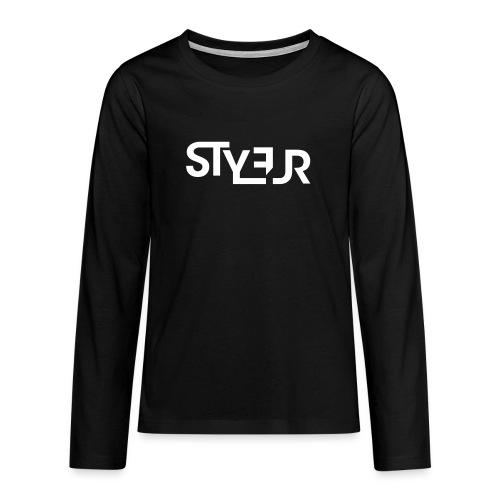 styleur logo spreadhsirt - Teenager Premium Langarmshirt