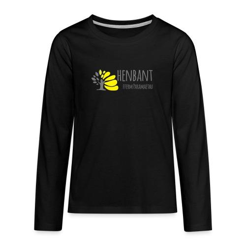 henbant logo - Teenagers' Premium Longsleeve Shirt