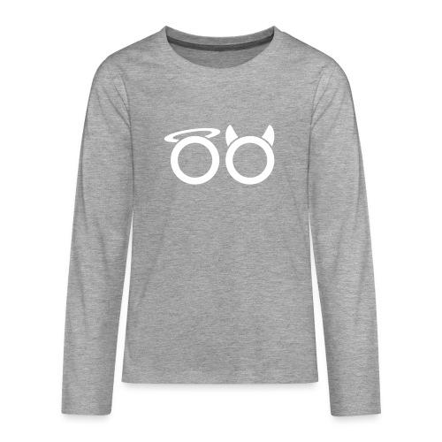 hvit svg - Teenagers' Premium Longsleeve Shirt