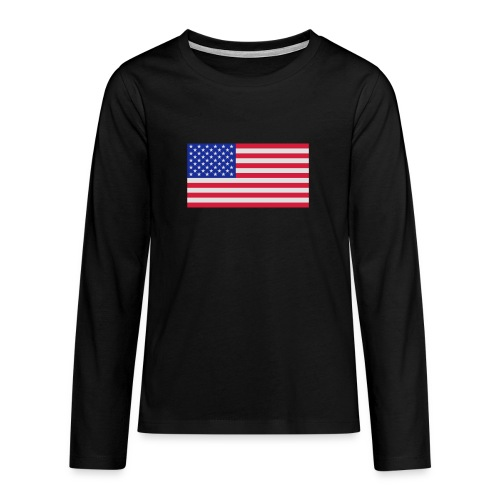 USA / United States - Teenager Premium shirt met lange mouwen