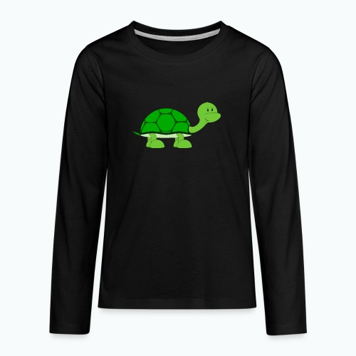Totte Turtle - Appelsin - Långärmad premium T-shirt tonåring
