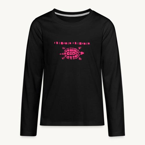 Stein - Schere - Papier Schildkröte - Teenager Premium Langarmshirt