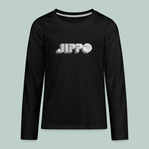 Retro JIPPO logo - Teinien premium pitkähihainen t-paita