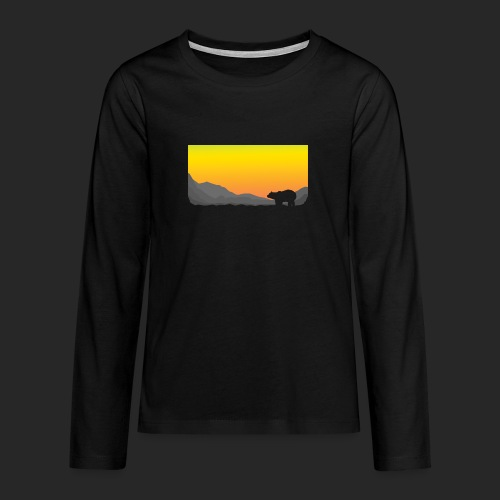 Sunrise Polar Bear - Teenagers' Premium Longsleeve Shirt