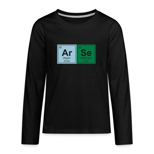 Geeky Arse Periodic Elements - Teenagers' Premium Longsleeve Shirt