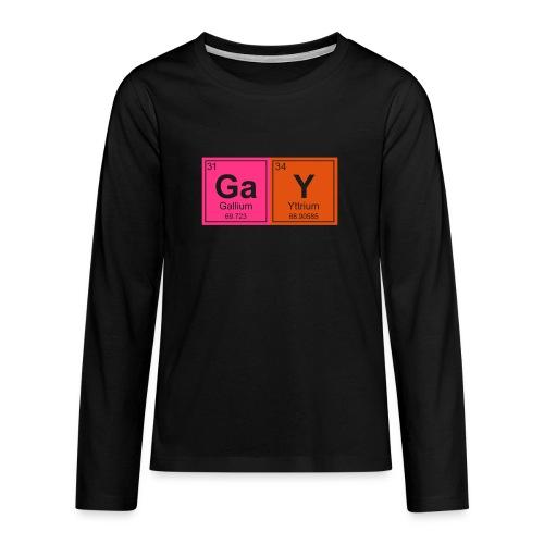 Geeky Gay Periodic Elements - Teenagers' Premium Longsleeve Shirt